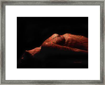Artistic Crucifiction Framed Print by Donna Blackhall