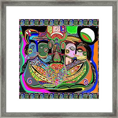 Artistic Display Of Orgasm Tantra System Of Sexual Arousal Thru Yoga Asana Mantra Chant Vibration En Framed Print by Navin Joshi