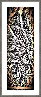 Artistic Hand And Flowers Framed Print by Pat Exum