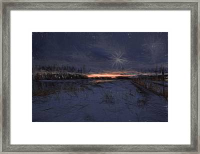 Artistic Painterly 2 Early Morning January 2015 Framed Print