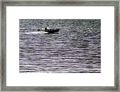 Artistic Patern Destroyed By Boat  Framed Print by Lars Ruecker