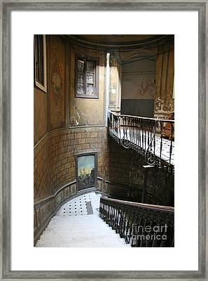 Artistic Staircase In Tbilisi Framed Print