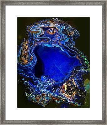 Artists Bisbee Velvet Beauty Azurite Framed Print