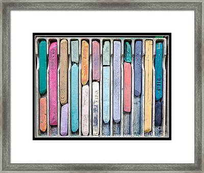 Artists Chalks Framed Print by Edward Fielding