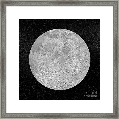 Artists Concept Of A Full Moon Framed Print by Elena Duvernay