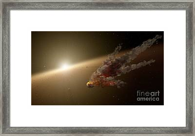 Artists Concept Of A Large Collision Framed Print by Stocktrek Images