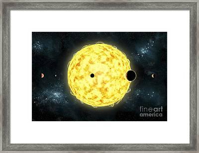 Artists Concept Of Kepler 444 Framed Print by Marc Ward