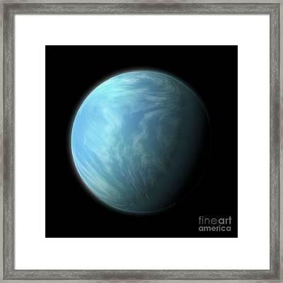 Artists Depiction Of Kepler 22b Framed Print