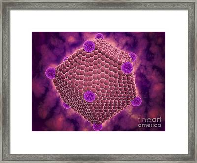 Artists Illustration Of An Icosahedron Framed Print