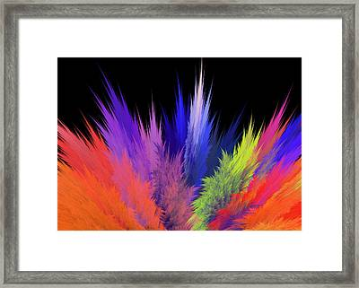 Artists Palette Abstract Framed Print