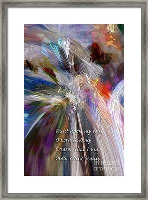 Artist's Prayer Framed Print by Margie Chapman