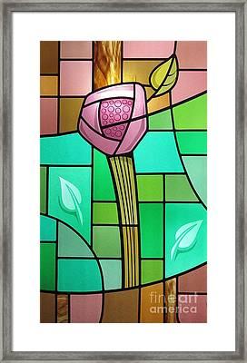 Arts And Crafts Rose Framed Print