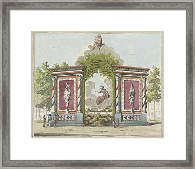 Arts And Sciences, Decoration At The North Market Framed Print by Litz Collection