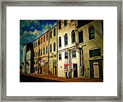 Arts In The Alley Framed Print