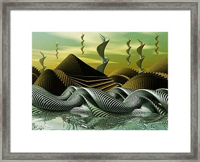 Framed Print featuring the digital art Artscape by John Alexander