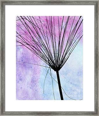 Artsy Abstract Silhouette Framed Print by Sabrina L Ryan