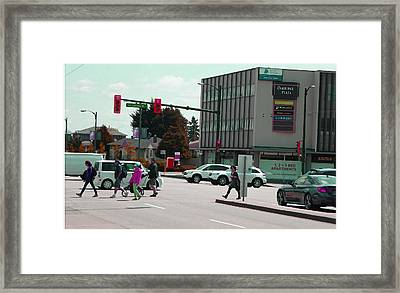 Framed Print featuring the photograph Oakridge Intersection by Laurie Tsemak