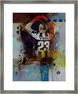 Arturo Vidal - D Framed Print by Corporate Art Task Force