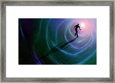 Artwork Depicting A Near-death Experience Framed Print