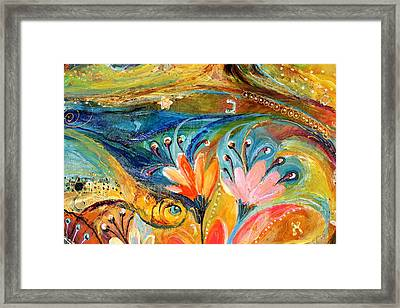 Artwork Fragment 08 Framed Print by Elena Kotliarker