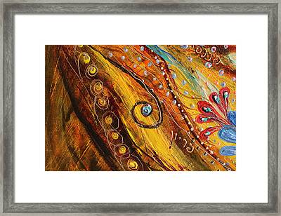 Artwork Fragment 100 Framed Print by Elena Kotliarker