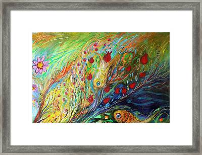 Artwork Fragment 37 Framed Print by Elena Kotliarker