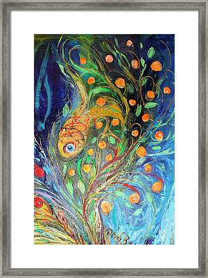 Artwork Fragment 38 Framed Print by Elena Kotliarker