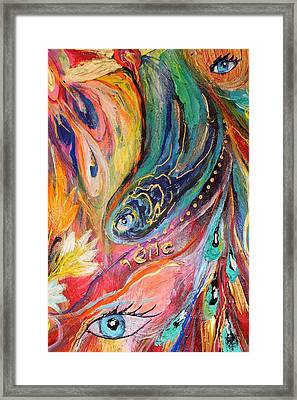 Artwork Fragment 40 Framed Print by Elena Kotliarker