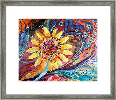 Artwork Fragment 42 Framed Print by Elena Kotliarker
