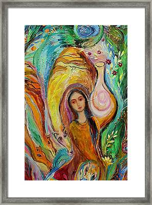 Artwork Fragment 44 Framed Print by Elena Kotliarker