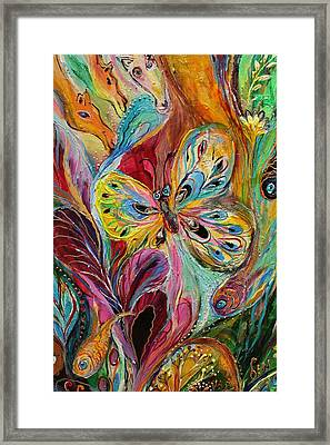 Artwork Fragment 47 Framed Print by Elena Kotliarker