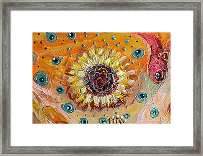 Artwork Fragment 52 Framed Print by Elena Kotliarker