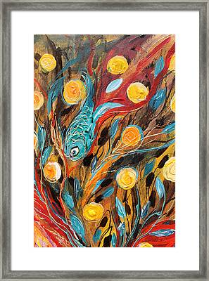 Artwork Fragment 53 Framed Print by Elena Kotliarker
