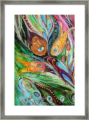 Artwork Fragment 56 Framed Print by Elena Kotliarker