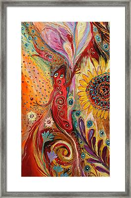 Artwork Fragment 59 Framed Print by Elena Kotliarker