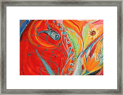 Artwork Fragment 62 Framed Print by Elena Kotliarker