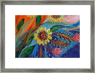 Artwork Fragment 80 Framed Print by Elena Kotliarker