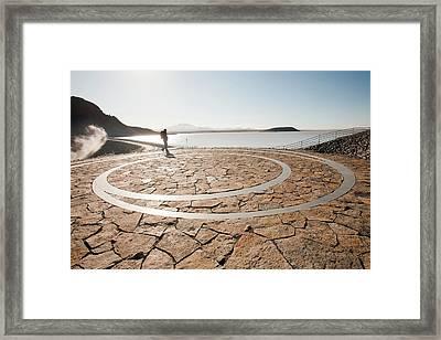 Artwork Next To Reservoir Framed Print