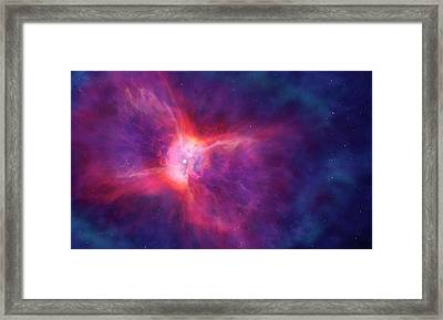 Artwork Of A Bipolar Planetary Nebula Framed Print by Mark Garlick