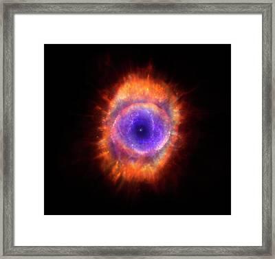 Artwork Of A Planetary Nebula Framed Print