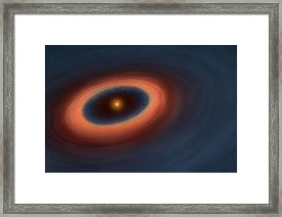 Artwork Of A Ptotoplabetary Disc Framed Print by Mark Garlick