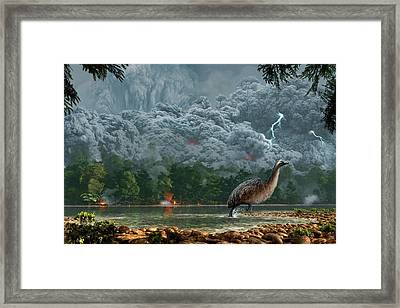 Artwork Of A Pyroclastic Flow Framed Print