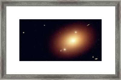Artwork Of An Elliptical Galaxy Framed Print by Mark Garlick