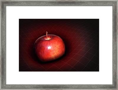 Artwork Of Apple Warping Spacetime Framed Print by Mark Garlick