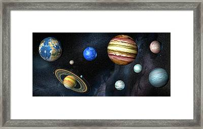 Artwork Of Exoplanets Framed Print by Henning Dalhoff