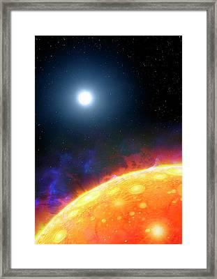 Artwork Of Molten Planet Kepler 70b Framed Print by Mark Garlick