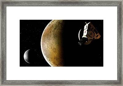 Artwork Of New Horizons Mission Framed Print by Mark Garlick