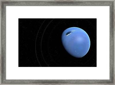 Artwork Of Planet Neptune Framed Print by Mark Garlick