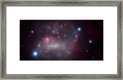 Artwork Of The Large Magellanic Cloud Framed Print by Mark Garlick