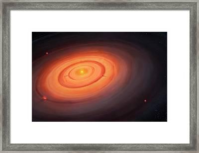 Artwork Of The Solar Nebula Framed Print